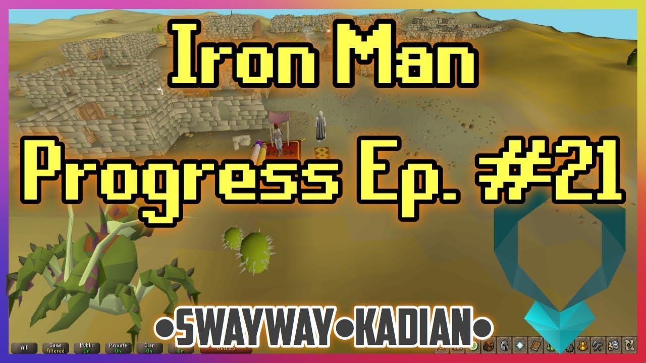 Iron Man Ep  #21 // KILLING KQ // HARD DIARY ACHIEVED // CLUE SCROLLS &  QUESTS