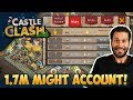 Top 5 Android account... 1.7 Million Might! Castle Clash