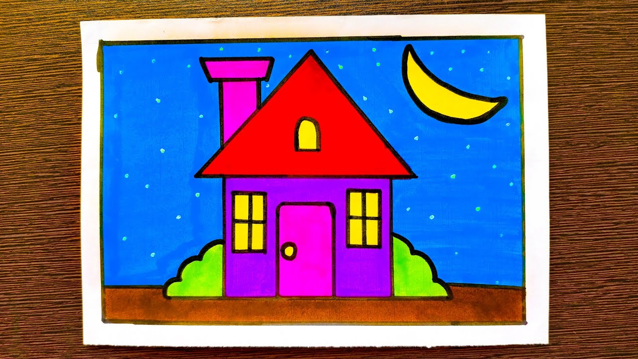 Home Drawing For Kids Kids Colouring Youtube