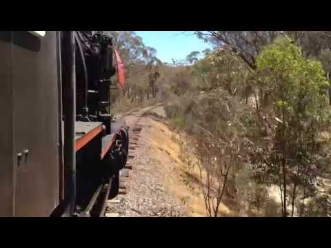 Cab ride on the Victorian Goldfields Railway J549 from Muckleford to Maldon