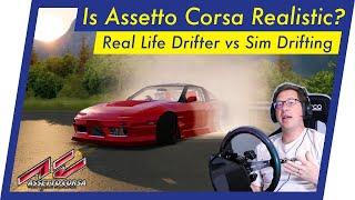 Is Assetto Corsa Drifting REALISTIC? (Real Drifter vs Fanatec Sim)