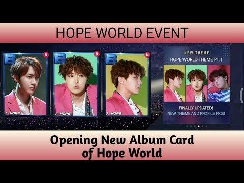 Hope World Event in Superstar BTS Opening New Album Card Reward