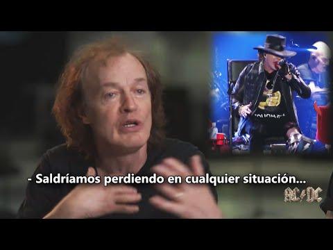 AC/DC niegan que Brian Johnson fuese despedido | Primera actuación con AXL ROSE | (Subtitulado)