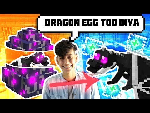 Minecraft : HOW TO HATCH DRAGON EGGS 🐉 IN MINECRAFT || FUNNY HINDI ANDROID MINECRAFT PE GAMEPLAY