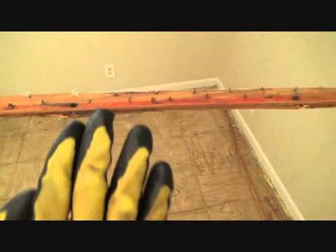 The Easiest Way To Remove Old Carpet Tack Strip Youtube