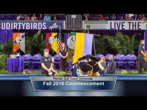 Florida Gulf Coast University Fall Commencement 2016 Morning