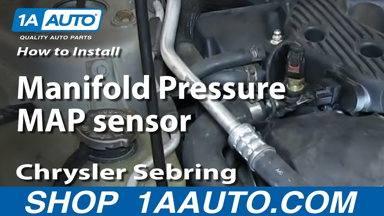 how to install replace manifold pressure map sensor 2001 06 chrysler sebring 2 7l [ 1280 x 720 Pixel ]
