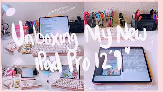 Unboxing iPad Pro 12.9 inch + 🍎 Apple Pencil + Accessories | 2020 💕