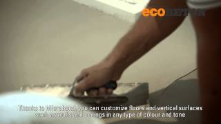 Microbond, cementitious overlay for interior design.mp4
