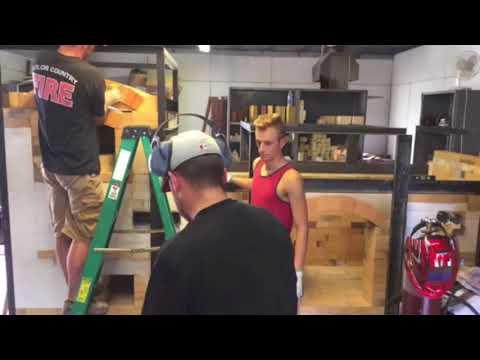 IPFW Train Kiln Build Video, by Seth Green