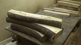 Склейка щитов из дерева, заготовка древесины из  яблони и других ценных пород