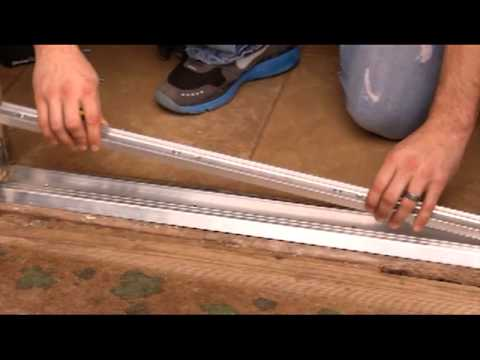 How To Install An Adjustable Door Threshold Youtube