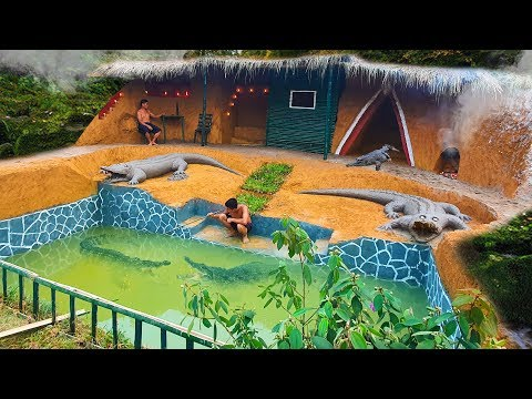 Dig To Build Swiming Pool Crocodile Around The Secret Underground House