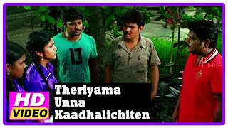 Theriyama Unna Kadhalichitten Movie | Scenes | Vijay Vasanth's friends talk to Resna | Pawan