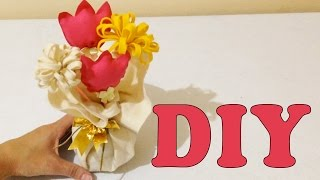 Como Fazer Peso de Porta com Feltro e Flores – Artesanato DIY