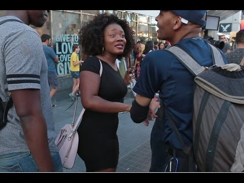 "South African Woman VS Black Trump Supporter ""When was America great?"""