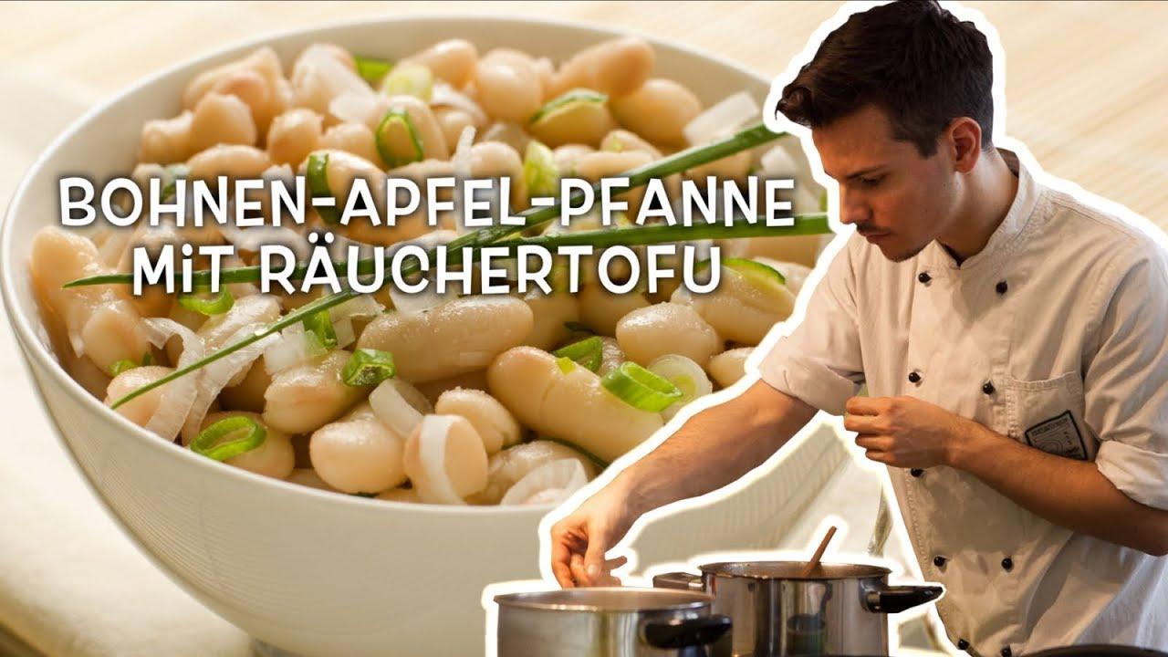 Vegane Bohnen-Apfel-Räuchertofu-Pfanne • Ernährungswissenschaftlich optimiert