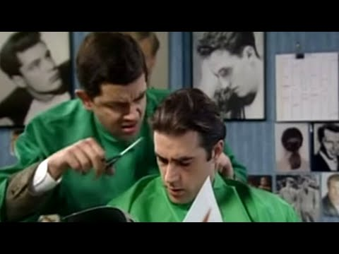 Cutting Men's Hair | Mr. Bean Official Cartoon