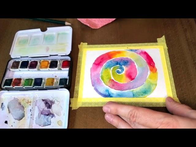 Spiraling Rainbow Art Meditation