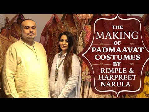 The making of Padmaavat Costumes by Rimple...