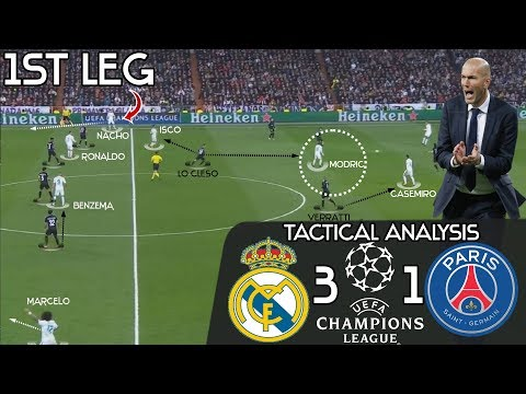 How Zidane's Genius Substitutions Earned Real Madrid A Comeback Win vs PSG: Tactic Analysis| 1st LEG