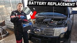 HOW TO REPLACE BATTERY ON FORD EDGE 2007 2008 2009 2010 2011 2012 2013 2014