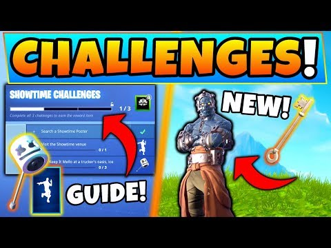 Fortnite SHOWTIME CHALLENGES GUIDE + PRISONER STAGE KEY! (Venue & Ice Cream Parlor Locations!)