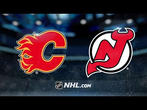 Monahan scores twice as Flames defeat Devils, 3-2