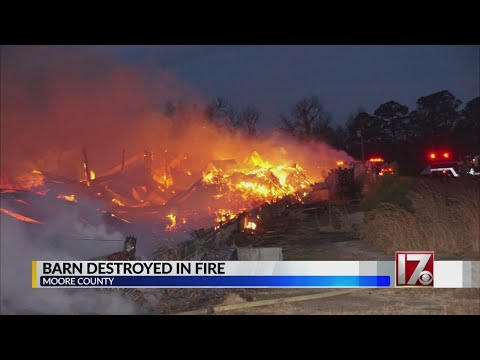 No injuries in Moore County barn fire