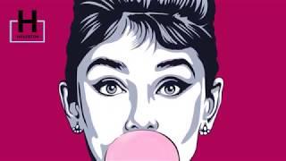 видео поп арт портрет
