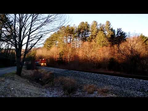 New England Central 608 surprises me on plains road in Tolland Connecticut