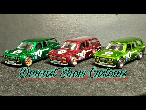 Making the Hot Wheels Green Datsun 510 Wagon