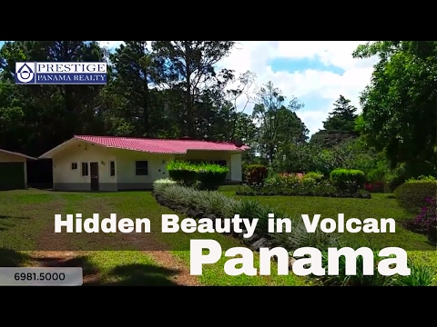 Hidden and private home for sale in Volcan. Panama. Prestige Panama Realty. 6981.5000