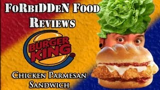 "Burger King's ""chicken Parmesan Sandwich"" Food Review!"
