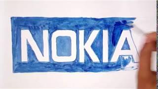 Nokia phone company logo drawing