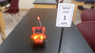 toy car speed trap // Homemade Science with Bruce Yeany