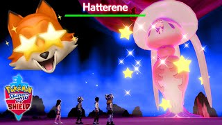 SHINY GIGANTAMAX HATTERENE + POKEMON HOME!! (Pokemon Sword + Shield)