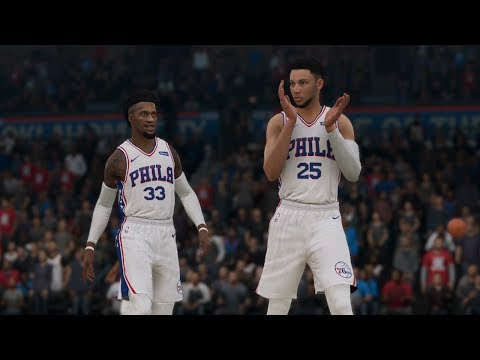 NBA LIVE 19 Oklahoma City Thunder vs Philadelphia 76ers 1st Half (NBA LIVE 19 Gameplay CPU vs CPU)