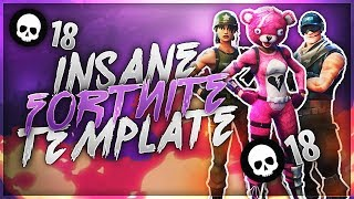 Insane Fortnite Thumbnail Template | Free Download | 2018