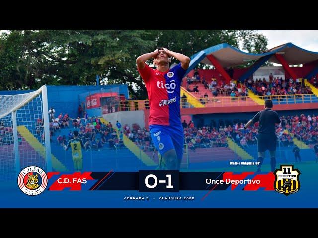 4K Resumen | FAS 0-1 Once Deportivo | Jornada 03 - Clausura 2020