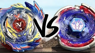 Beyblade BURST VS METAL FIGHT 4D Battle: God Valkyrie .6V.Rb VS Big Bang Pegasus F:D