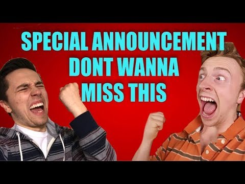 HUGE ANNOUNCEMENT YOU DONT WANNA MISS