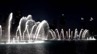 Dancing Fountain show in front of the Burj Khalifa