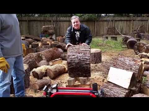 Homelite 5 Ton electric wood splitter from Home Depot