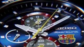 Najnowszy zegarek seiko z serii sportura fc barcelona.
