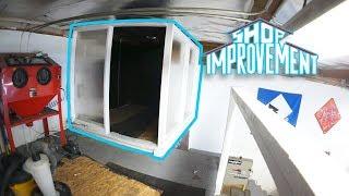 I BUILT THE PAINT ROOM! - Shop Improvement #4