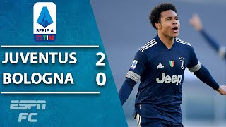 Juventus return to winning ways in serie a with comfortable 2-0 victory over bologna. huge deflection gave arthur melo his first ever goal for the old la...