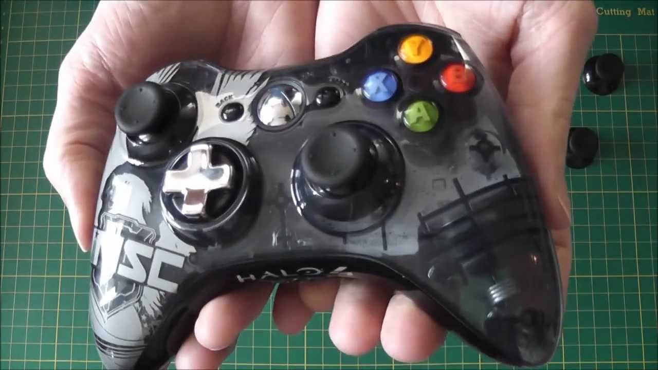 Halo 4 le xbox 360 controller mod teardown overview fitting halo 4 le xbox 360 controller mod teardown overview fitting new thumbsticks youtube solutioingenieria Image collections