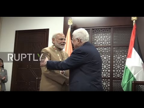 State of Palestine: 'Wise and courageous' Modi receives highest order from Abbas