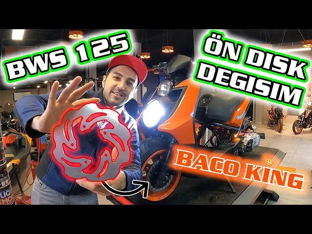 BWS 125 ÖN DİSK DEĞİŞTİRME - ÖN BÜYÜK JANT - BASIK MOTOSİKLET